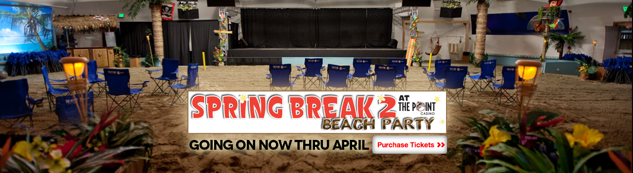 spring break beach party at the point casino